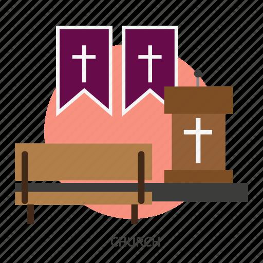 building, catholic, christian, church, interior, religion icon