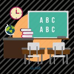 building, class, interior, room, teacher icon