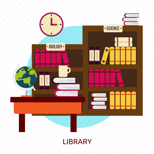 book, bookcase, bookshelf, building, education, interior, library icon