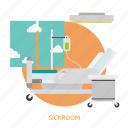 building, interior, medical, medicine, patient, recovery, sickroom icon