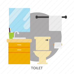 bath, bathroom, building, interior, sanitary, toilet, washroom icon