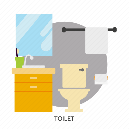bath, bathroom, building, interior, sanitary, toilet, washroom icon