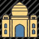 building, landmarks, taj icon