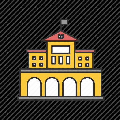 education, learning, university icon