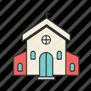 church, building, christian