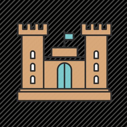 ancient, castle, security icon