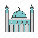 building, mosque, muslim icon