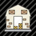 farm, farmhouse, house