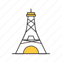 electric, electricity, tower icon