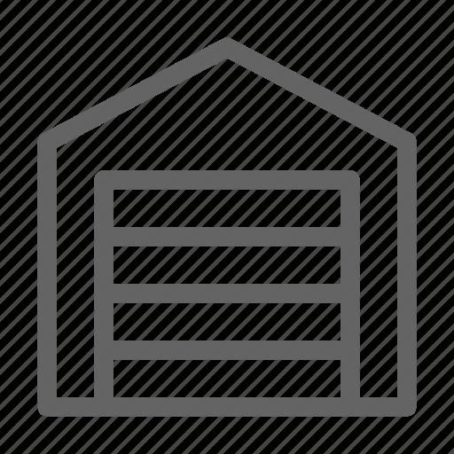 garage, home, warehouse icon