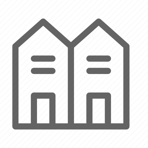 house, residential, townhouse icon