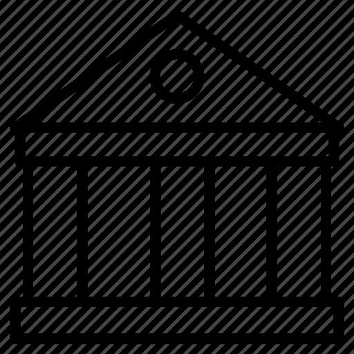 bank, building, court, estate, property icon