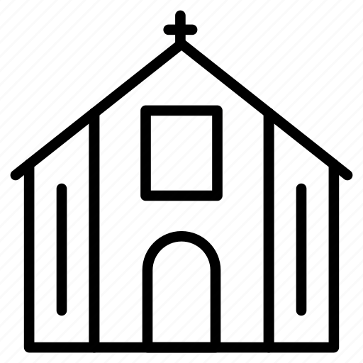 building, catholic, church, property, realestate icon