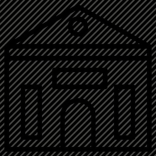 apartment, building, estate, home, hostel icon
