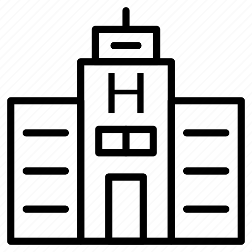 building, clinic, estate, hospital, property icon