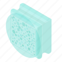 aerated, autoclaved, block, brick, concrete, isometric, object