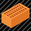 brick, brickwork, construction, home, isometric, object, rectangle