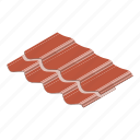 construction, isometric, material, object, roof, rooftop, tile