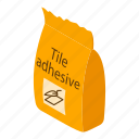 adhesive, cement, construction, glue, isometric, object, tile