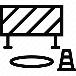 barrier, building, cone, construction, realtor, repair, tool icon