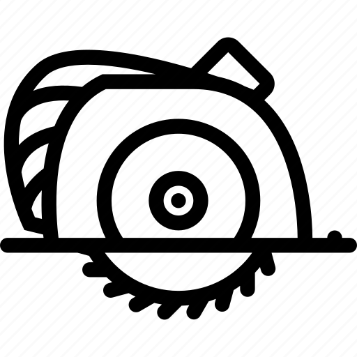 building, circular, construction, realtor, repair, saw, tool icon