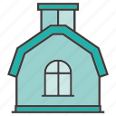 architecture, building, farmhouse, home, house, real estate icon