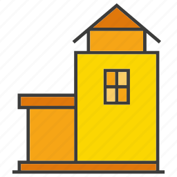 architecture, building, home, house, real estate, residential, tower icon