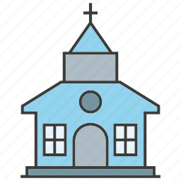 architecture, building, chapel, church, real estate, synagogue, tower icon