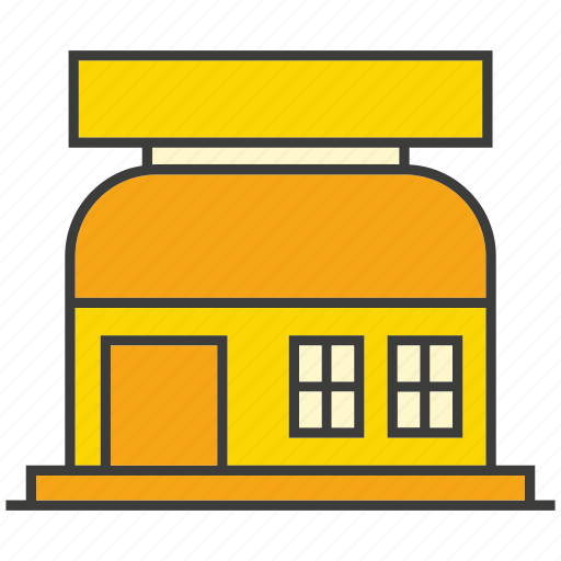 architecture, building, real estate, shop, store icon