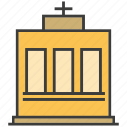architecture, building, chapel, church, real estate, synagogue icon