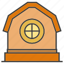 architecture, building, farmhouse, home, house, real estate, tower icon
