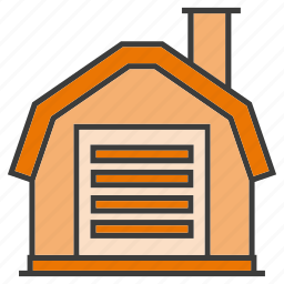 architecture, garage, home, house, real estate, residential icon