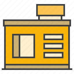 architecture, building, real estate, residential, shop, store, tower icon