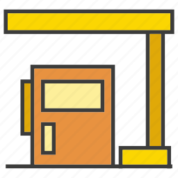 building, energy, gas, gas station, oil, station icon