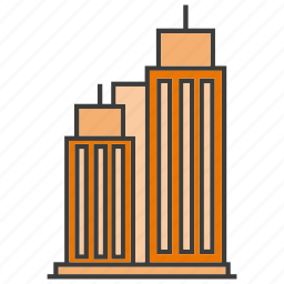 architecture, building, office, real estate, residential, tower icon