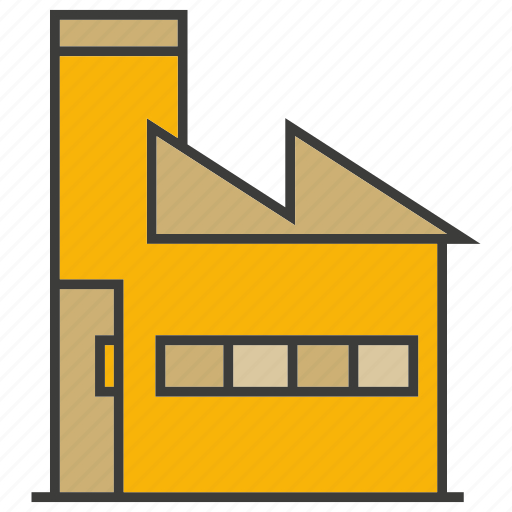 architecture, building, factory, industry, real estate icon