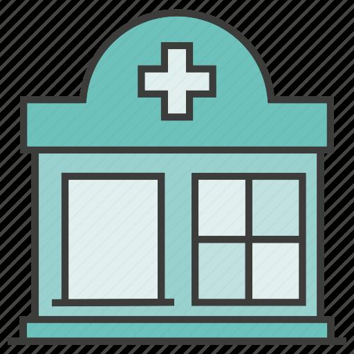 building, clinic, health care, hospital icon