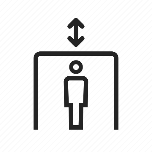 elevator, freight, lift, move, passenter icon