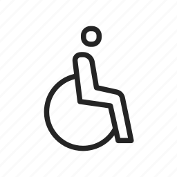 disable, disabled, handicap, handicapped, wheelchair icon