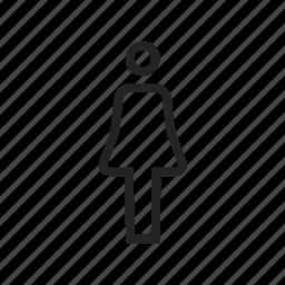 female, human, people, profile, user, woman icon