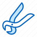 building, construction, pincers, tool icon