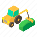 isometric, lawn, lawnmower, mower, object, riding, tractor