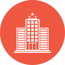 3 star hotel, apartment, home, hotel, place, star hotel icon