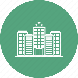 apartment, home, hotel, place, star hotel icon