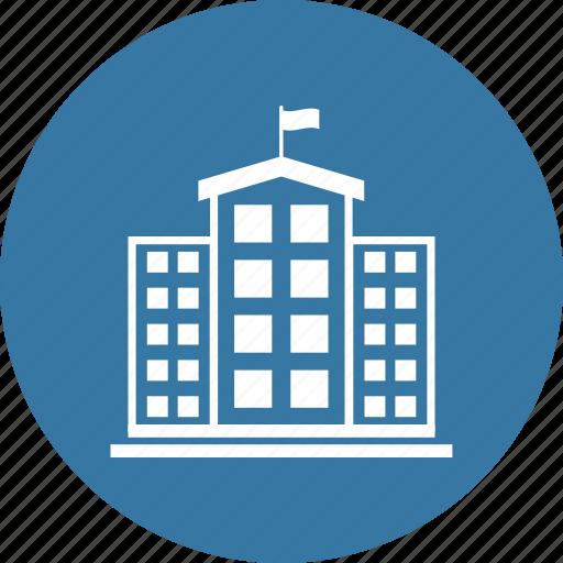 building, education building, school, school building icon