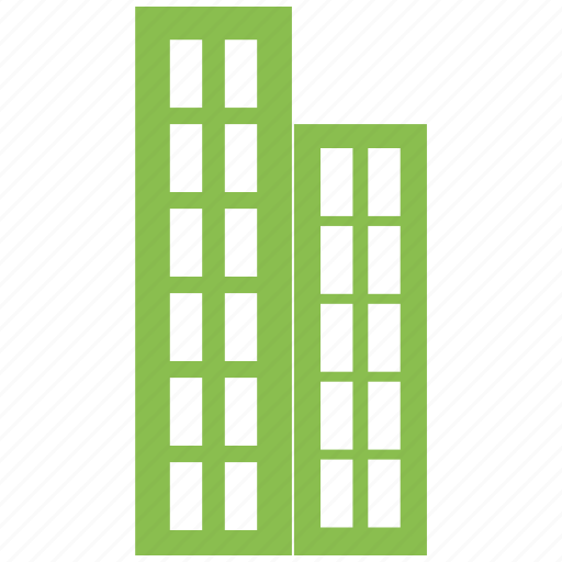 building, city, hotel, office, town icon