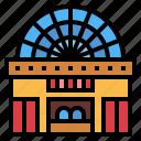 building, cinema, movie, theater