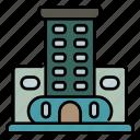 building, apartment, motel, hotel