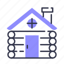 wooden, house, cabin, building, cottage