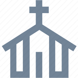 buildings, church, home, praying, religion, residential icon